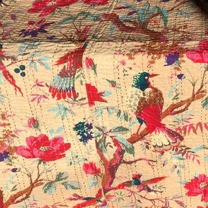 NWOT - Hand-Stitched Coverlet - Song Birds